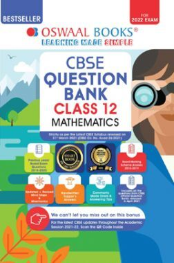 Oswaal CBSE Question Bank Class 12 Mathematics Book Chapterwise & Topicwise Includes Objective Types & MCQ's (For 2022 Exam)