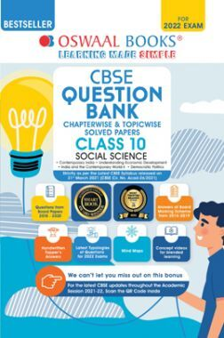 Oswaal CBSE Question Bank Class 10 Social Science Book Chapterwise & Topicwise Includes Objective Types & MCQ's (For 2022 Exam)