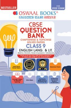 Oswaal CBSE Question Bank Class 9 English Language And Literature Book Chapterwise & Topicwise Includes Objective Types & MCQ's (For 2022 Exam)