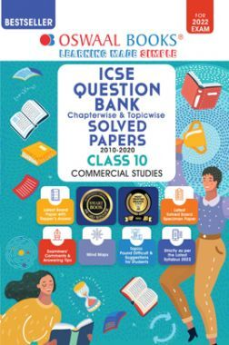 Oswaal ICSE Question Bank Class 10 Commercial Studies Book Chapterwise & Topicwise (For 2022 Exam)