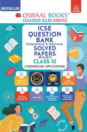 Oswaal ICSE Question Bank Class 10 Commercial Applications Book Chapterwise & Topicwise (For 2022 Exam)