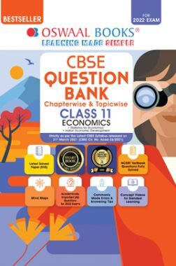 Oswaal CBSE Question Bank Class 11 Economics Book Chapterwise & Topicwise Includes Objective Types & MCQ's (For 2022 Exam)