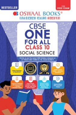 Oswaal CBSE One For All Social Science Class 10 (For 2022 Exam)