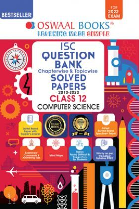 Oswaal ISC Question Bank Class 12 Computer Science Book Chapterwise & Topicwise (For 2022 Exam)