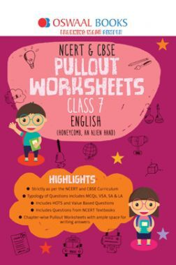 Oswaal NCERT & CBSE Pullout Worksheets Class 7 English Book (For 2022 Exam)