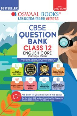 Oswaal CBSE Question Bank Class 12 English Core Book Chapterwise & Topicwise Includes Objective Types & MCQ's (For 2022 Exam)