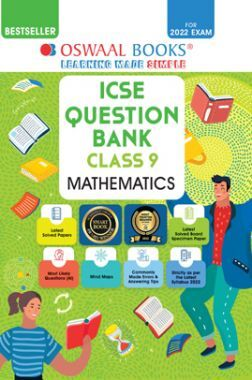Oswaal ICSE Question Bank Class 9 Mathematics Book Chapterwise & Topicwise (For 2022 Exam)