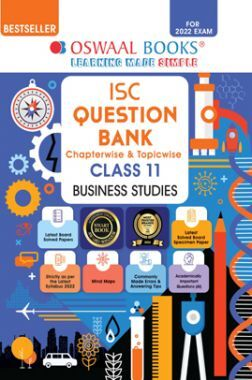 Oswaal ISC Question Bank Class 11 Business Studies Book Chapterwise & Topicwise (For 2022 Exam)