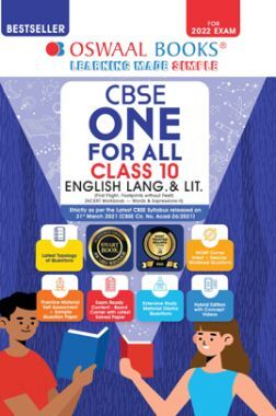 Oswaal CBSE One For All English Lang. & Lit. Class 10 (For 2022 Exam)