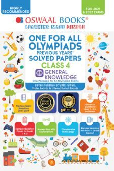 One for All Olympiad Previous Years' Solved Papers Class-4 General Knowledge Book (For 2022 Exam)