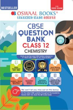 Oswaal CBSE Question Bank Class 12 Chemistry Book Chapterwise & Topicwise Includes Objective Types & MCQ's (For 2022 Exam)