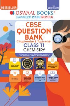 Oswaal CBSE Question Bank Class 11 Chemistry Book Chapterwise & Topicwise (For 2022 Exam)
