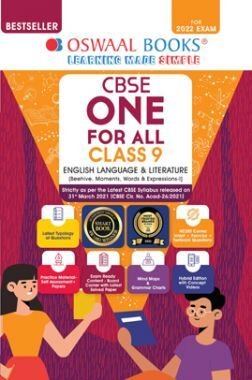 Oswaal CBSE One For All English Lang. & Lit. Class 9 (For 2022 Exam)