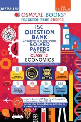 Oswaal ISC Question Bank Class 12 Economics Book Chapterwise & Topicwise (Reduced Syllabus) (For 2022 Exam)