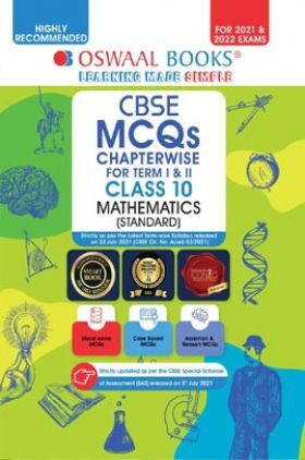 Oswaal CBSE MCQs Chapterwise For Term I & II Class 10 Mathematics (Standard) (For 2021-22 Exam)