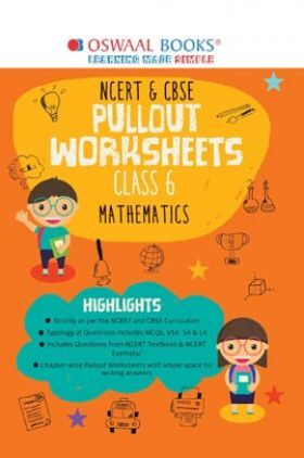 Oswaal NCERT & CBSE Pullout Worksheets Class 6 Mathematics Book (For 2022 Exam)