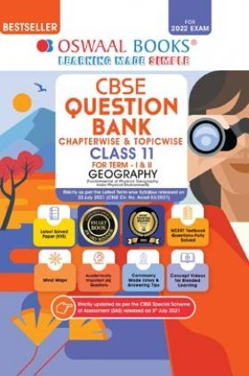 Oswaal CBSE Question Bank Class 11 For Term-I & II Geography Book Chapterwise & Topicwise MCQ's (For 2021-22 Exam)