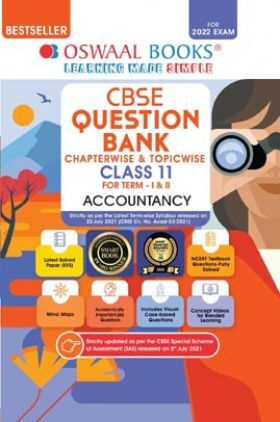 Oswaal CBSE Question Bank Class 11 For Term-I & II Accountancy Book Chapterwise & Topicwise MCQ's (For 2021-22 Exam)