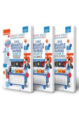 Oswaal CBSE Sample Question Paper Class 10 (Set of 3 Books) Science, Social Science & Mathematics Standard (Term I Nov-Dec 2021 Exam)