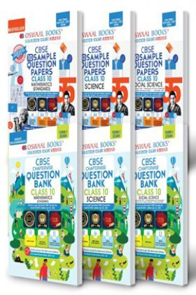 Oswaal CBSE Sample Question Papers + MCQs Question Bank Chapterwise Class 10 (Set of 6 Books) Mathematics Standard, Science, Social Science (Term I Nov-Dec 2021 Exam)