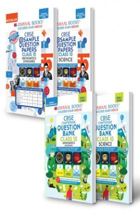 Oswaal CBSE Sample Question Papers + MCQs Question Bank Chapterwise Class 10 (Set of 4 Books) Mathematics Standard, Science (Term I Nov-Dec 2021 Exam)