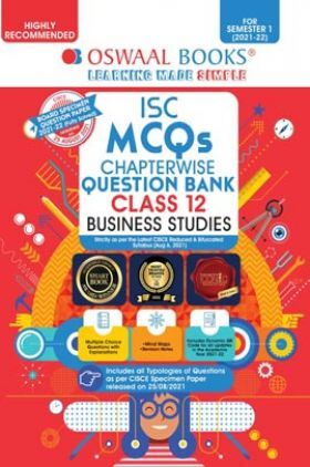 Oswaal ISC MCQs Chapterwise Question Bank Class 12 Business Studies Book (For Semester 1 Nov-Dec 2021 Exam)