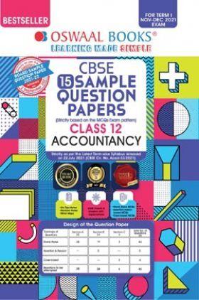 Oswaal CBSE Sample Question Paper Class 12 Accountancy Book (For Term I Nov-Dec 2021 Exam)