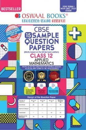 Oswaal CBSE Sample Question Paper Class 12 Applied Mathematics Book (For Term I Nov-Dec 2021 Exam)
