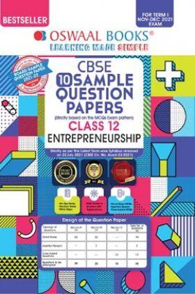Oswaal CBSE Sample Question Papers Class 12 Entrepreneurship Book (For Term I Nov-Dec 2021 Exam)