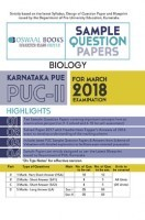 Oswaal Karnataka PUE Sample Question Papers For PUC II Biology (March 2018 Exam)