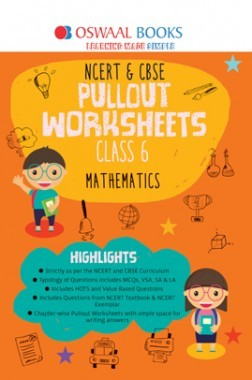 Oswaal NCERT & CBSE Pullout Worksheet For Class-VI Mathematics (March 2019 Exam)