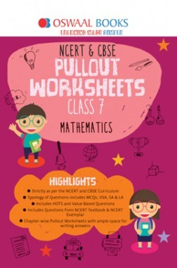 Oswaal NCERT & CBSE Pullout Worksheet For Class-VII Mathematics (March 2019 Exam)