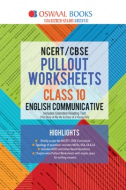 Oswaal NCERT & CBSE Pullout Worksheet For Class-X English Communicative (March 2019 Exam)
