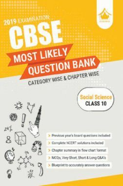 Oswal CBSE Most Likely Question Bank Category & Chapterwise For Class X Social Science (For 2019 Exam.)