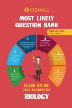 Oswal ISC Most Likely Question Bank Category & Chapterwise For Class XII Biology (For 2020 Exam)