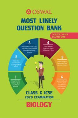 Oswal ICSE Most Likely Question Bank Category & Chapterwise For Class X Biology (For 2020 Exam)