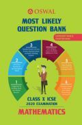 Oswal ICSE Most Likely Question Bank Category & Chapterwise For Class X Mathematics (For 2020 Exam)