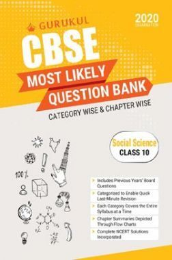Oswal CBSE Most Likely Question Bank For Class - X Social Science (March 2020 Exams)