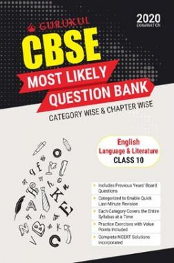 Oswal CBSE Most Likely Question Bank For Class - X English Language & Literature (March 2020 Exams)