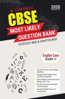 Oswal CBSE Most Likely Question Bank For Class - XI English Core (March 2020 Exams)