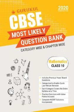 Oswal CBSE Most Likely Question Bank For Class - X Mathematics (March 2020 Exams)