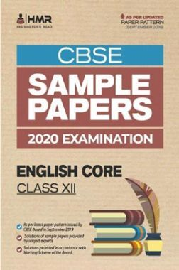 Oswal CBSE Sample Papers - English Core For Class XII (For 2020 Exams)