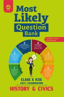 Oswal ICSE Most Likely Question Bank For Class - X History And Civics (March 2021 Exam)