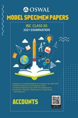 Oswal ISC Model Specimen Papers Class 12 Accounts For 2021 Examination