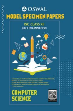 Oswal ISC Model Specimen Papers Class 12 Computer Science For 2021 Examination