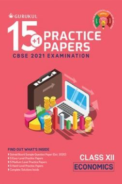 Oswal CBSE 15+1 Practice Papers For Class 12 Economics For 2021 Examination