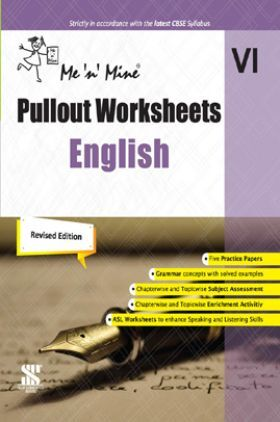 Me n Mine Pullout Worksheets English For Class - VI CBSE (New Edition)