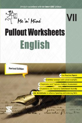 Me n Mine Pullout Worksheets English For Class - VII CBSE (New Edition)