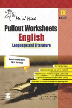 CBSE Pullout Worksheets English Language And Literature For Class - IX