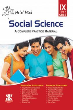 Me N Mine Social Science First Term For Class-IX CBSE